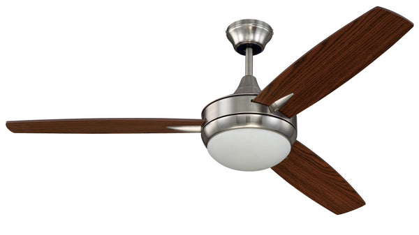 "Craftmade - TG52BNK3 - 52"" Ceiling Fan w/Blades and Light Kit - Targas - Brushed Polished Nickel"