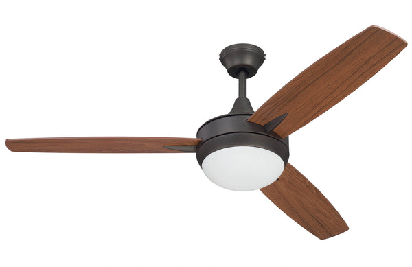 "Craftmade - TG52ESP3 - 52"" Ceiling Fan w/Blades and Light Kit - Targas - Espresso"