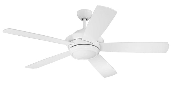 "Craftmade - TMP52W5 - 52"" Ceiling Fan w/Blades and Light Kit - Tempo - White"