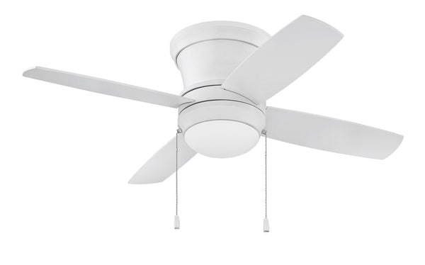 "Craftmade - LAVH52MWW4 - 52"" Ceiling Fan w/ Blades and Light Kit - Laval Hugger - Matte White"