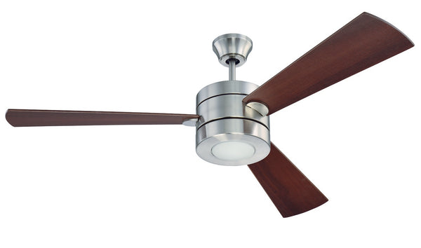 "Craftmade - TRI54BNK3 - 54"" Ceiling Fan w/ Blades and Light Kit - Triad - Brushed Polished Nickel"
