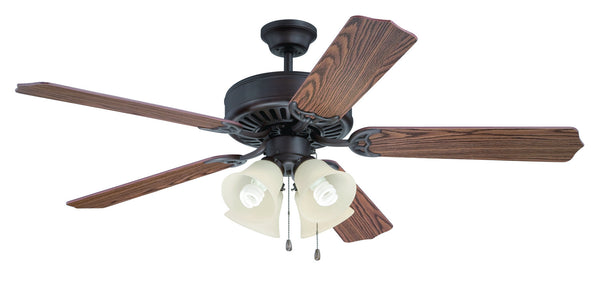 "Craftmade - K11203 - 52"" Ceiling Fan Motor with Blades Included - Pro Builder 204 - Aged Bronze Brushed"