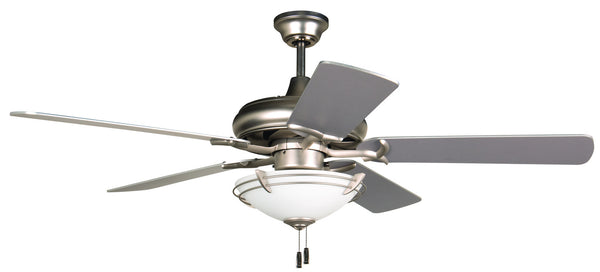"Craftmade - K11213 - 52"" Ceiling Fan Motor with Blades Included - Civic - Brushed Satin Nickel"