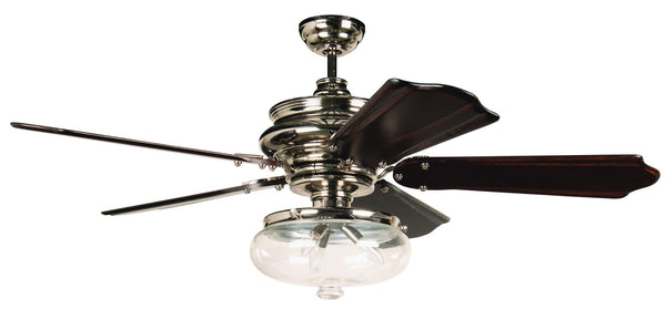 "Craftmade - K11262 - 52"" Ceiling Fan Motor with Blades Included - Townsend - Polished Nickel"