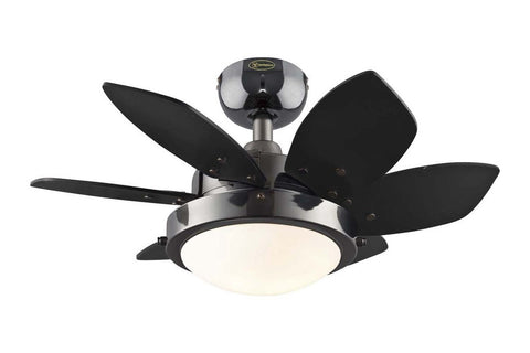 "Westinghouse 7224300 24"" Quince in Gun Metal with Reversible Black and Graphite Blades Indoor Rated Ceiling Fan"