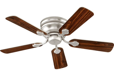"Quorum 75445-65 44"" Barclay Ceiling Fan in Satin Nickel"