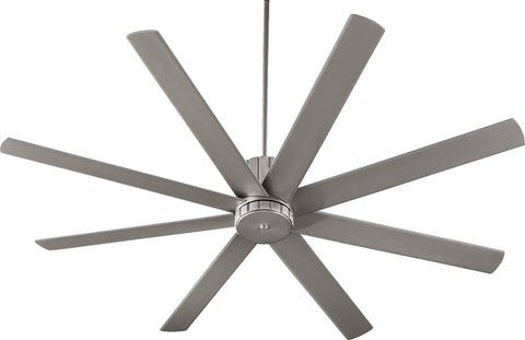 "Quorum 72"" Ceiling Fan from the Proxima collection in Satin Nickel finish"