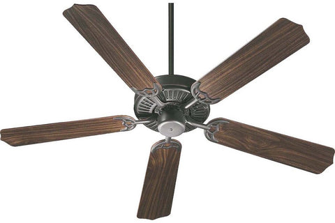 "Quorum 77425-95 42"" Capri in Old World with Reversible Rosewood and Walnut Blades Indoor Rated Ceiling Fan"