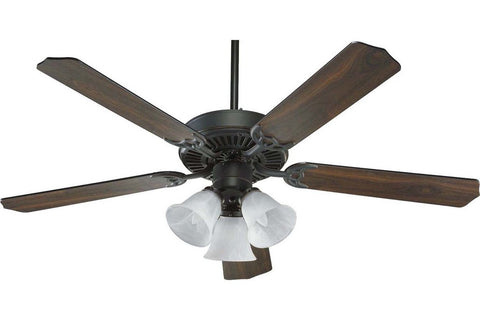 "Quorum 77525-1695 52"" Capri in Old World with Reversible Old World and Walnut Blades Indoor Rated Ceiling Fan"