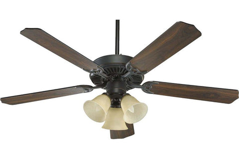 "Quorum 77525-1795 52"" Capri in Old World with Reversible Old World and Walnut Blades Indoor Rated Ceiling Fan"