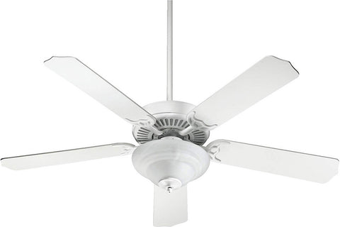 "Quorum 77525-67 52"" Capri IV Ceiling Fan in Studio White"