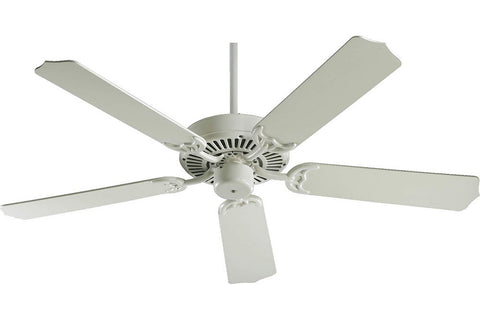 "Quorum 77525-8167 52"" Capri I Ceiling Fan in Antique White"