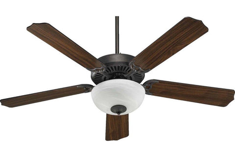 "Quorum 77525-9244 52"" Capri in Toasted Sienna with Reversible Toasted Sienna and Walnut Blades Indoor Rated Ceiling Fan"
