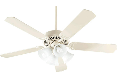 "Quorum 77525-9267 52"" Capri V Ceiling Fan in Antique White"