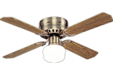 "Westinghouse 7812300 42"" Casanova in Antique Brass with Reversible Oak and Walnut Blades Indoor Rated Ceiling Fan"