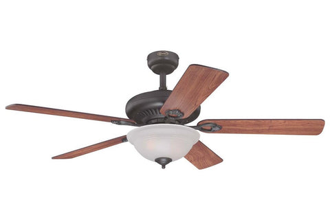 "Westinghouse 7839900 52"" Fairview in Oil Rubbed Bronze with Reversible Dark Cherry and Walnut Blades Indoor Rated Ceiling Fan"