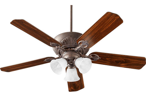 "Quorum 78525-1644 52"" Chateaux Ceiling Fan in Toasted Sienna"
