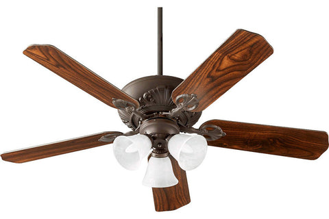 "Quorum 78525-1686 52"" Chateaux Ceiling Fan in Oiled Bronze"