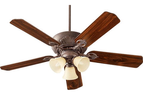 "Quorum 78525-1744 52"" Chateaux Ceiling Fan in Toasted Sienna"