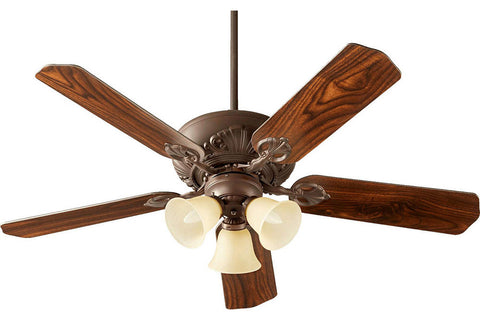 "Quorum 78525-1786 52"" Chateaux Ceiling Fan in Oiled Bronze"