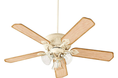 "Quorum 78525-1970 52"" Chateaux Ceiling Fan in Persian White"