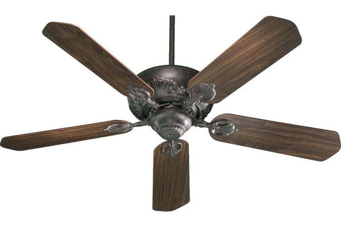 "Quorum 78525-44 52"" Chateaux in Toasted Sienna with Reversible Rosewood and Walnut Blades Indoor Rated Ceiling Fan"