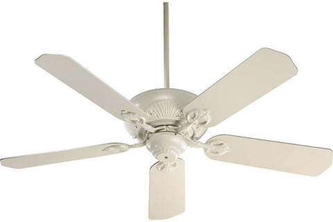 "Quorum 78525-67 52"" Chateaux Ceiling Fan in Antique White"