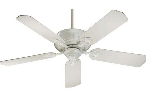 "Quorum 78525-8 52"" Chateaux in Studio White with Studio White Blades Indoor Rated Ceiling Fan"