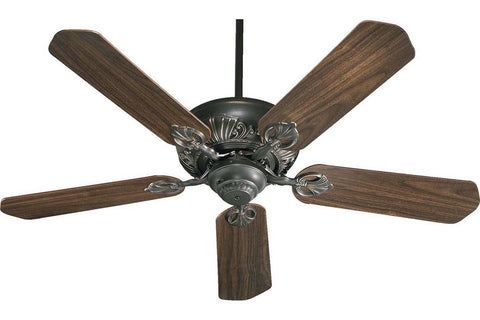 "Quorum 78525-95 52"" Chateaux in Old World with Reversible Rosewood and Walnut Blades Indoor Rated Ceiling Fan"