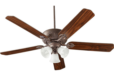 "Quorum 78605-1644 60"" Chateaux Ceiling Fan in Toasted Sienna"