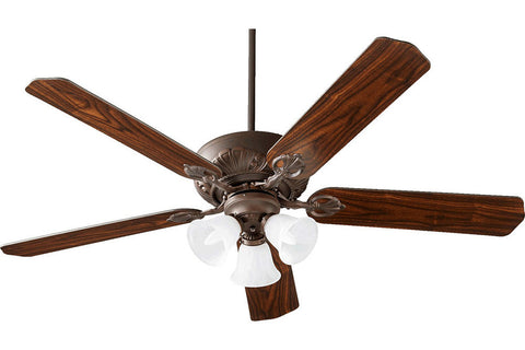 "Quorum 78605-1686 60"" Chateaux Ceiling Fan in Oiled Bronze"