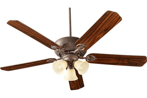 "Quorum 78605-1744 60"" Chateaux Ceiling Fan in Toasted Sienna"
