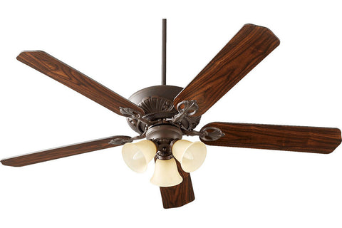 "Quorum 78605-1786 60"" Chateaux Ceiling Fan in Oiled Bronze"