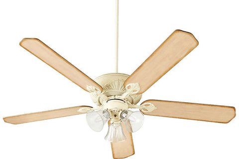 "Quorum 78605-1970 60"" Chateaux Ceiling Fan in Persian White"