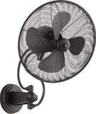 "Quorum 14"" Patio Fan from the Piazza collection in Noir finish"