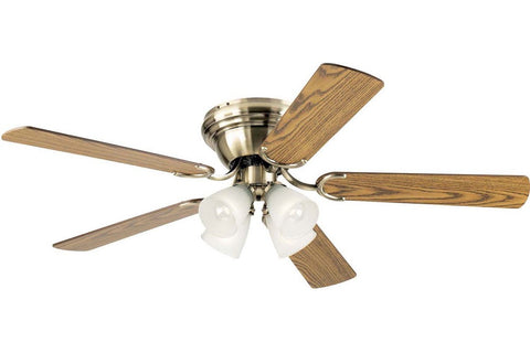 "Westinghouse 7871400 52"" Contempra in Antique Brass with Reversible Oak and Walnut Blades Indoor Rated Ceiling Fan"