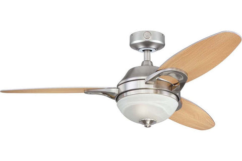 "Westinghouse 7877500 46"" Arcadia in Brushed Nickel with Reversible Beech and Weathered Maple Blades Indoor Rated Ceiling Fan"
