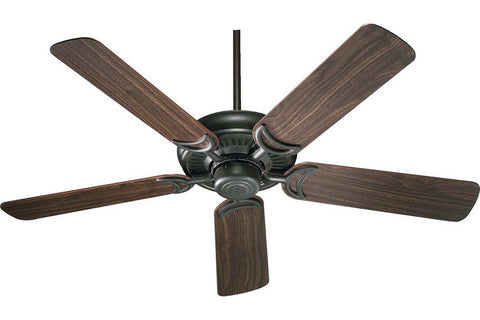 "Quorum 79525-95 52"" Venture in Old World with Reversible Rosewood and Walnut Blades Indoor Rated Ceiling Fan"