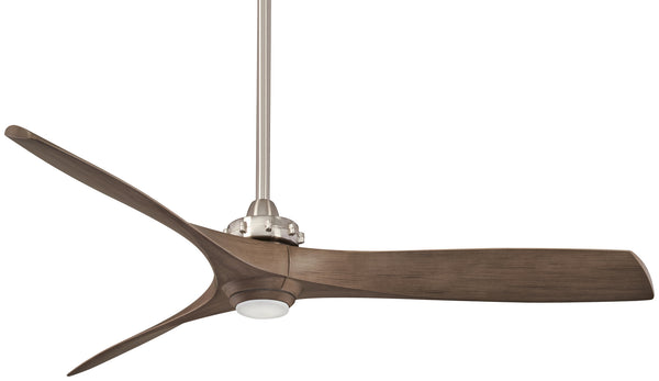 Minka Aire - F853L-BN/AMP - 60``Ceiling Fan - Aviation LED - Brushed Nickel/Ash Maple