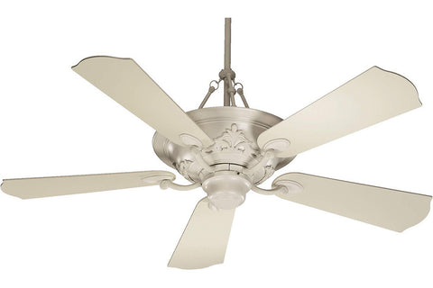 "Quorum 83565-67 56"" Salon Ceiling Fan in Antique White"