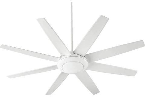 "Quorum 84708-8 70"" Modesto Ceiling Fan in Studio White"