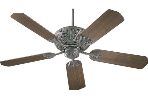 "Quorum 85525-44 52"" Windsor in Toasted Sienna with Reversible Rosewood and Walnut Blades Indoor Rated Ceiling Fan"