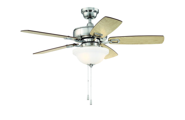 Craftmade - TCE52BNK5C1 - 52''Ceiling Fan - Twist N Click - Brushed Polished Nickel