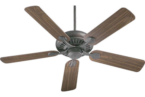 "Quorum 91525-44 52"" Pinnacle in Toasted Sienna with Reversible Rosewood and Walnut Blades Indoor Rated Ceiling Fan"