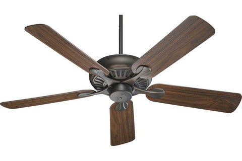 "Quorum 91525-86 52"" Pinnacle in Oiled Bronze with Reversible Teak and Walnut Blades Indoor Rated Ceiling Fan"