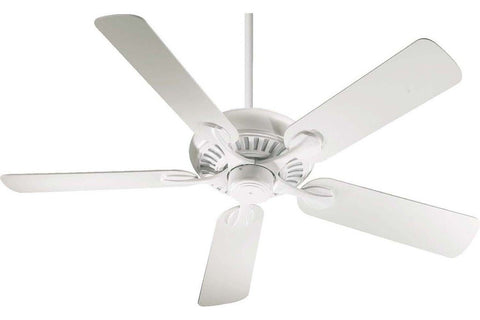"Quorum 91525-8 52"" Pinnacle in Studio White with Studio White Blades Indoor Rated Ceiling Fan"