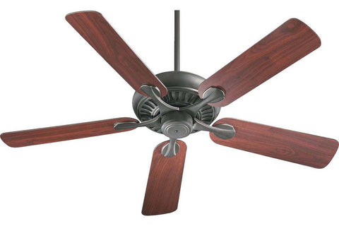 "Quorum 91525-95 52"" Pinnacle in Old World with Reversible Rosewood and Walnut Blades Indoor Rated Ceiling Fan"