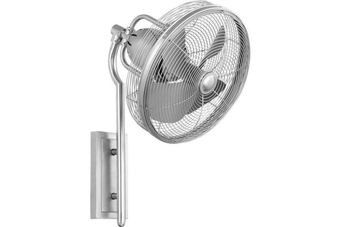 "Quorum 92413-65 13"" Veranda in Satin Nickel with Satin Nickel Blades Damp Rated Outdoor Ceiling Fan"