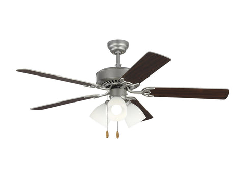"Monte Carlo 5HV52BPF 52"" Ceiling Fan - Haven 52 LED 3 in Brushed Pewter"