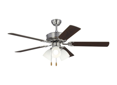 "Monte Carlo 5HV52BSF 52"" Ceiling Fan - Haven 52 LED 3 in Brushed Steel"